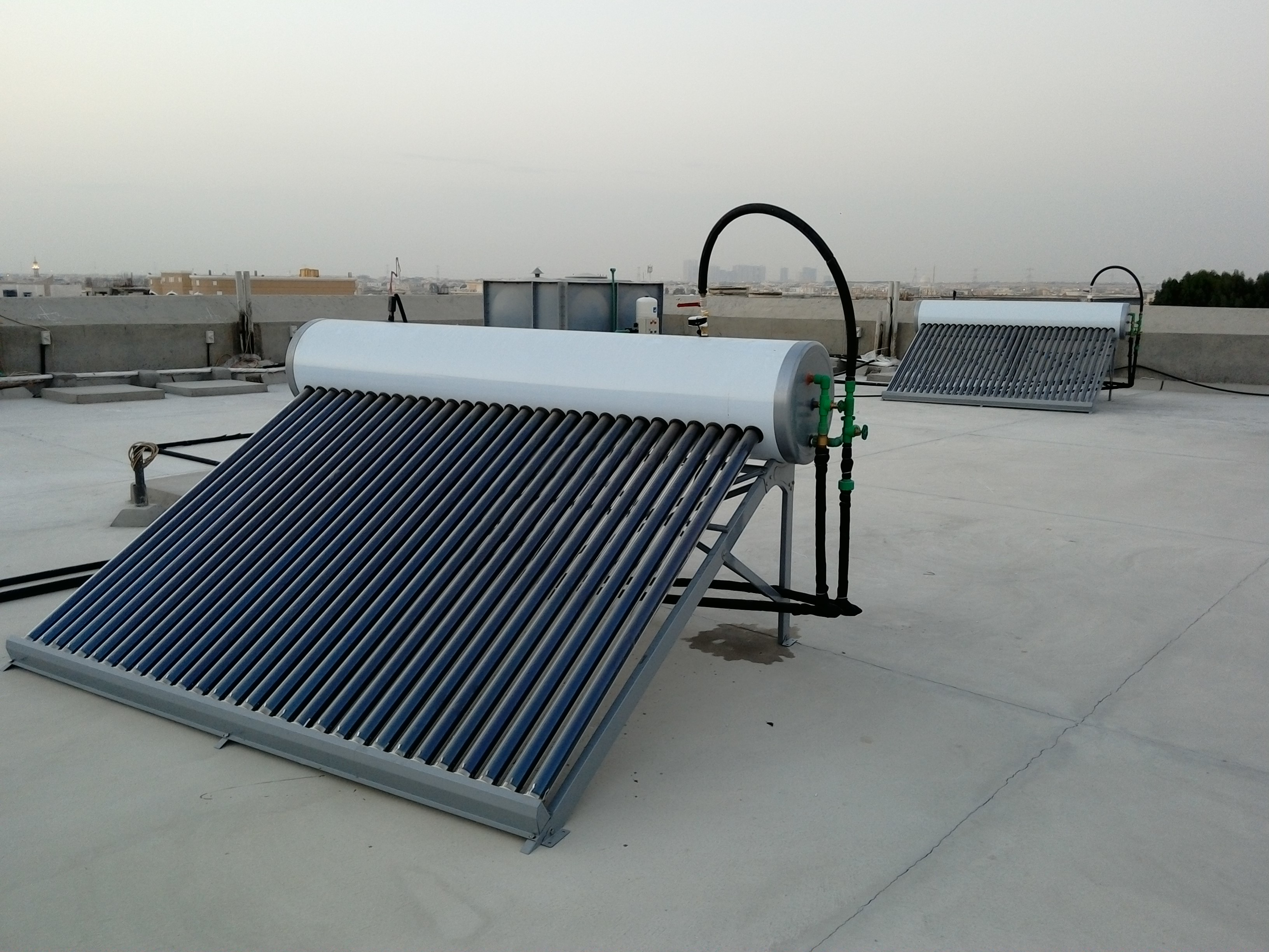 Ready installed Water Heater on roof in RAK / Ras Al Khaimah